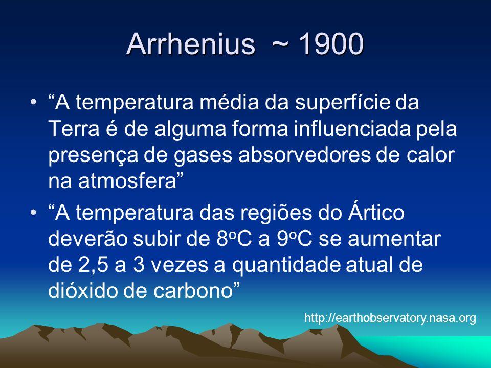 Arrhenius ~ 1900
