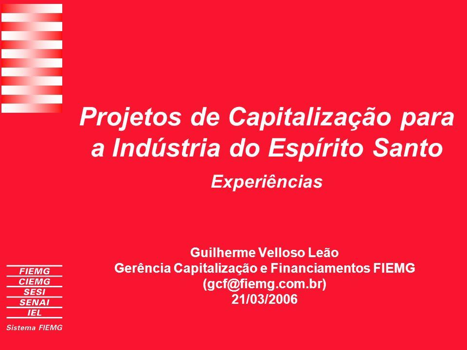 Guilherme Velloso Leão Gerência Capitalização e Financiamentos FIEMG