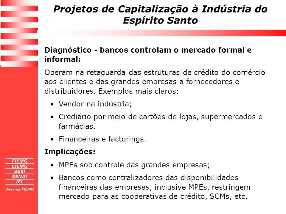 Diagnóstico - bancos controlam o mercado formal e informal: