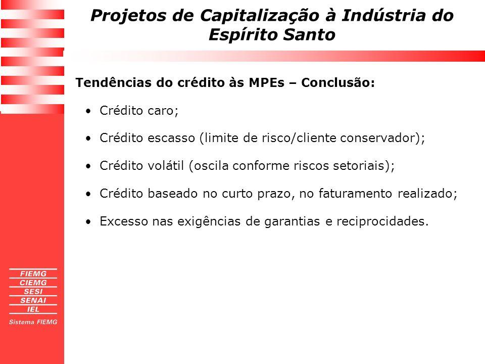 Tendências do crédito às MPEs – Conclusão: