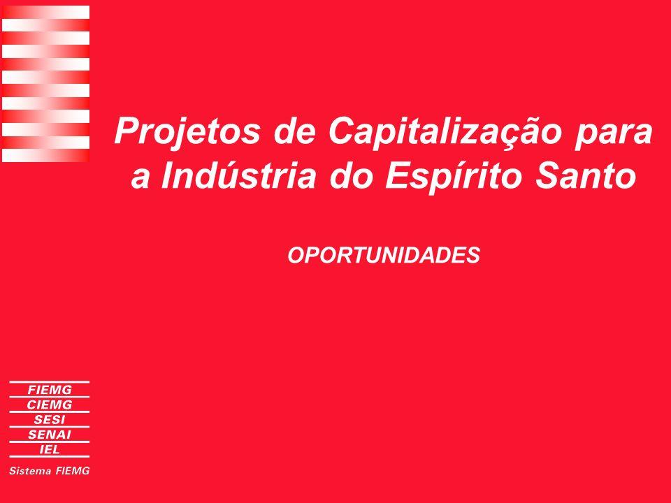Projetos de Capitalização para a Indústria do Espírito Santo OPORTUNIDADES