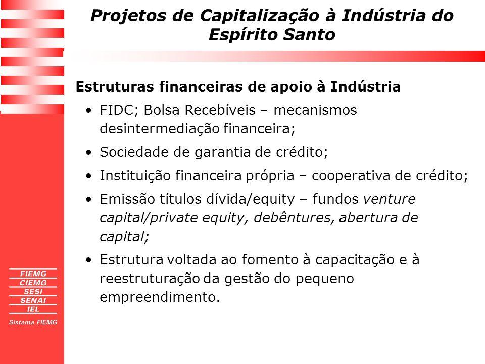 Estruturas financeiras de apoio à Indústria