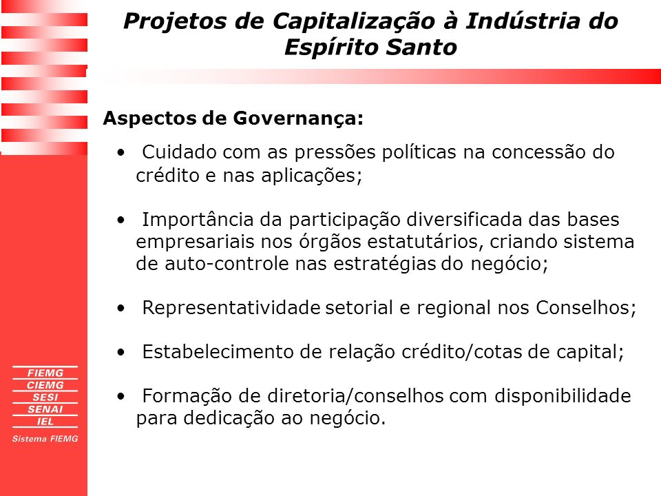 Aspectos de Governança: