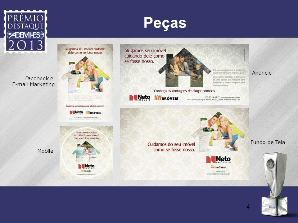 Peças Anúncio Facebook e E-mail Marketing Fundo de Tela Mobile 4