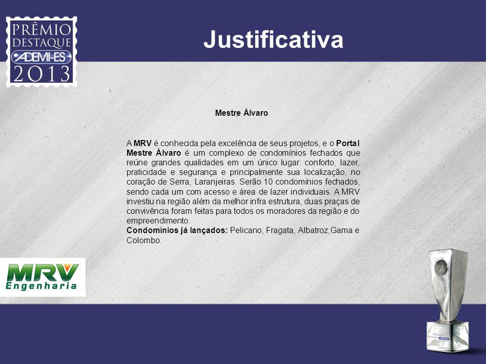 Justificativa Mestre Álvaro