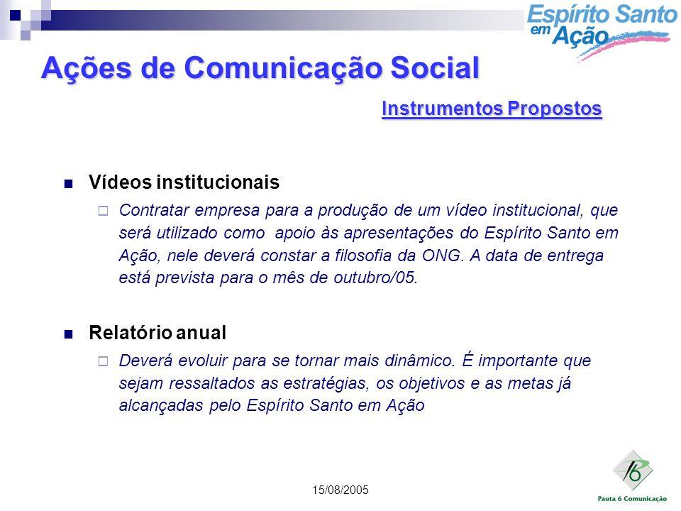 Ações de Comunicação Social Instrumentos Propostos
