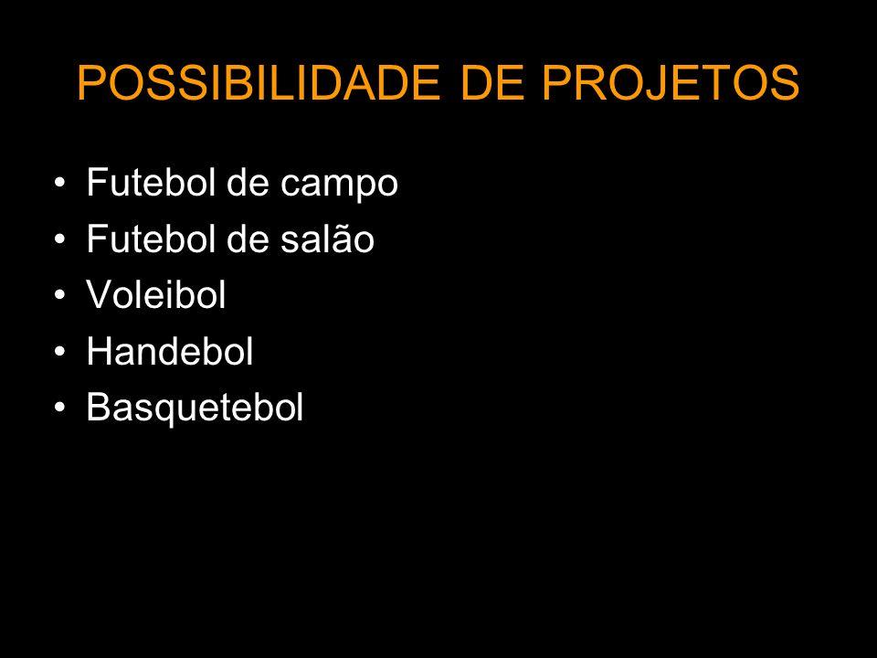 POSSIBILIDADE DE PROJETOS