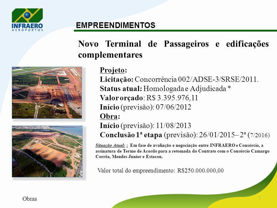 Novo Terminal de Passageiros e edificações complementares