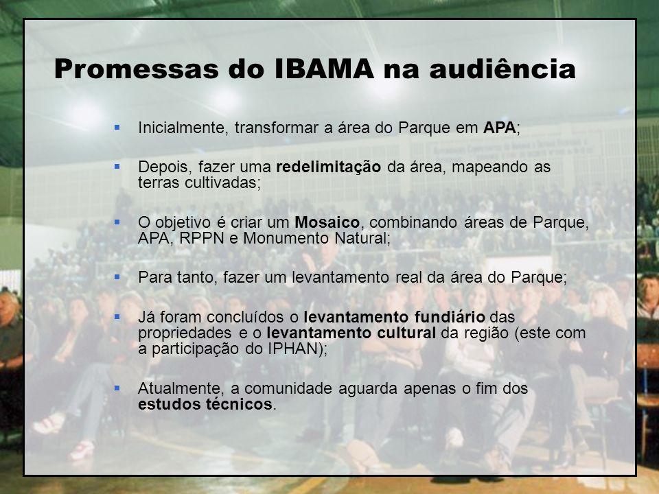 Promessas do IBAMA na audiência