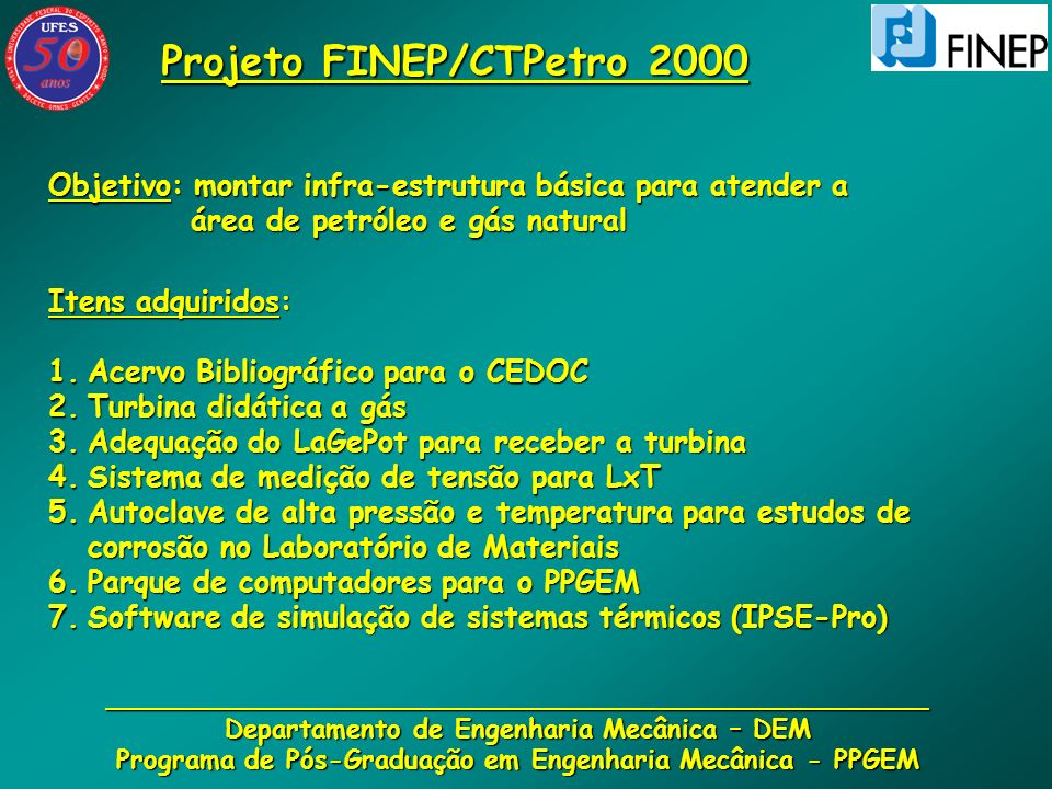 Projeto FINEP/CTPetro 2000