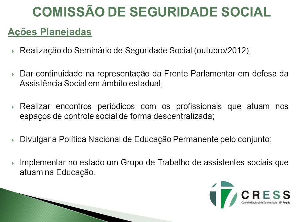 COMISSÃO DE SEGURIDADE SOCIAL
