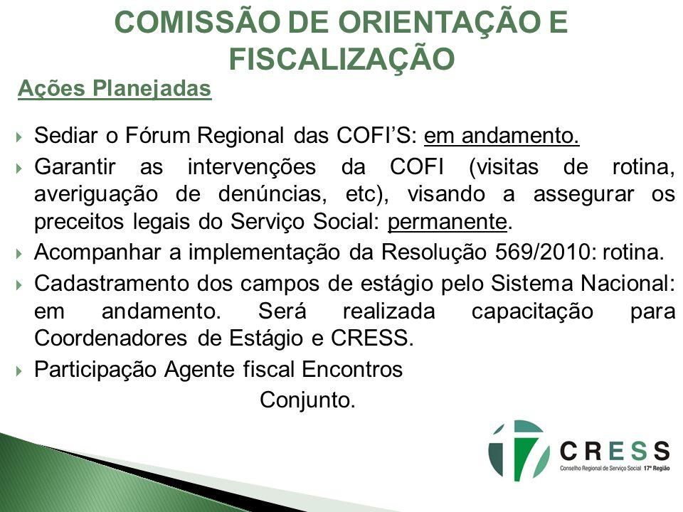 COMISSÃO DE ORIENTAÇÃO E FISCALIZAÇÃO