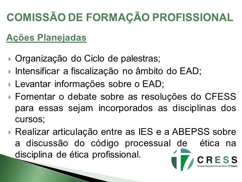 COMISSÃO DE FORMAÇÃO PROFISSIONAL