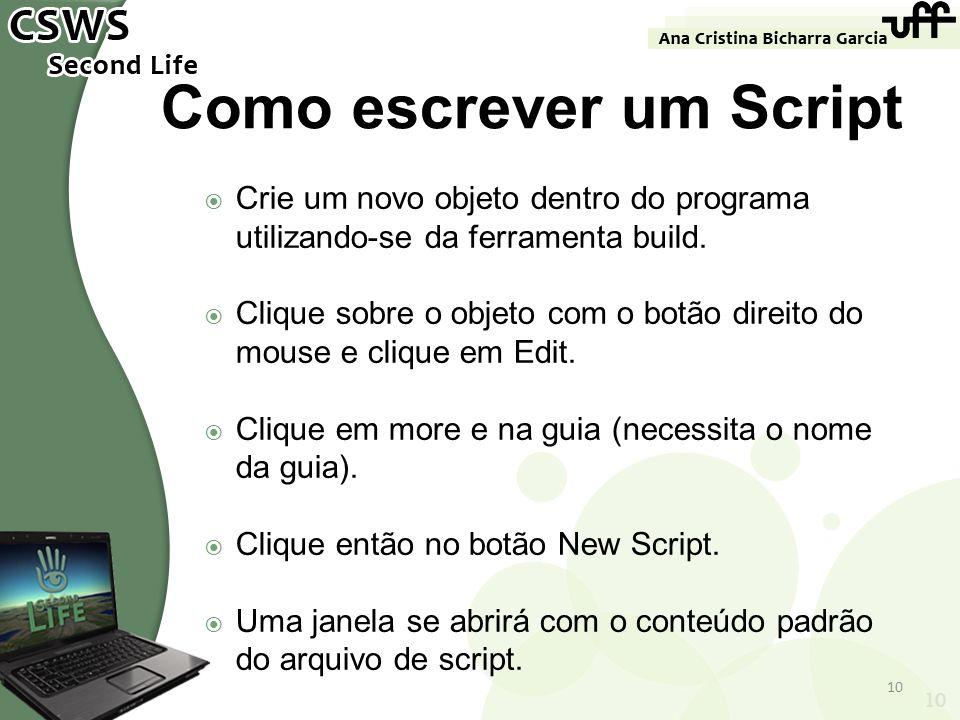Como escrever um Script