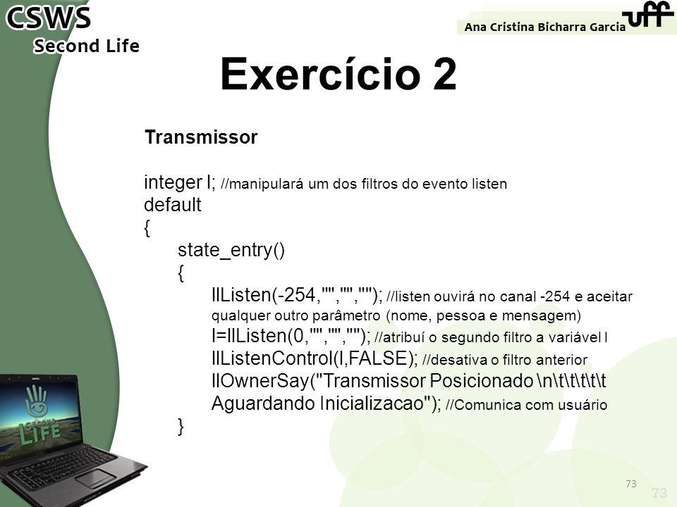 Exercício 2 Transmissor