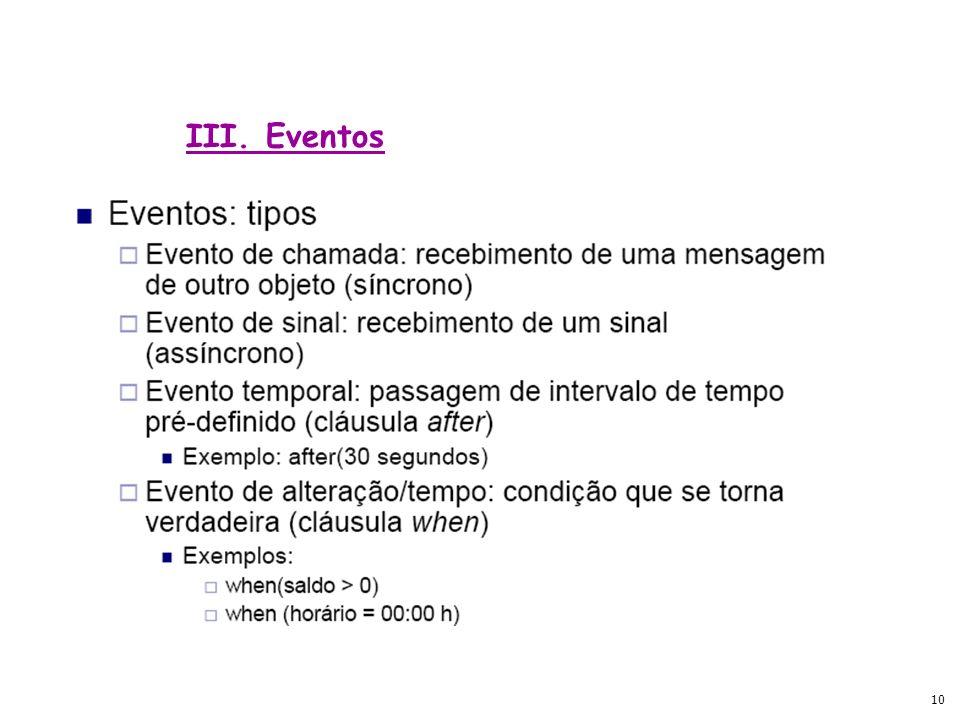 III. Eventos