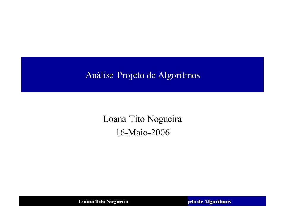 Análise Projeto de Algoritmos
