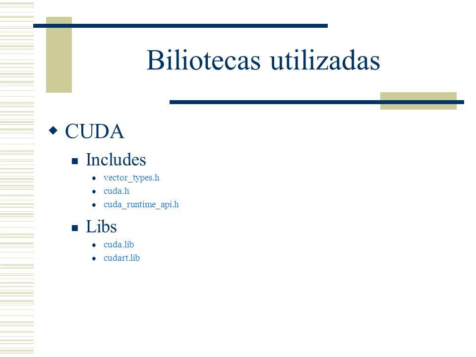 Biliotecas utilizadas