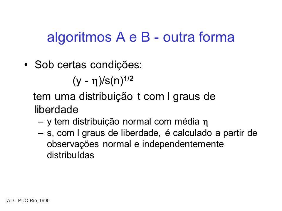 algoritmos A e B - outra forma