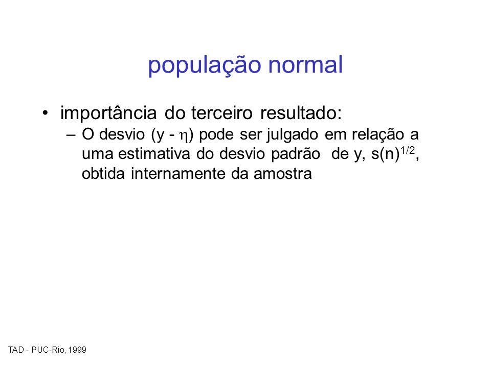 população normal importância do terceiro resultado: