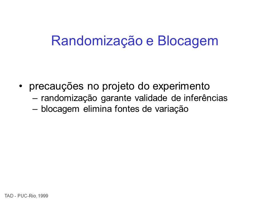 Randomização e Blocagem
