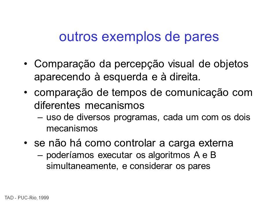 outros exemplos de pares