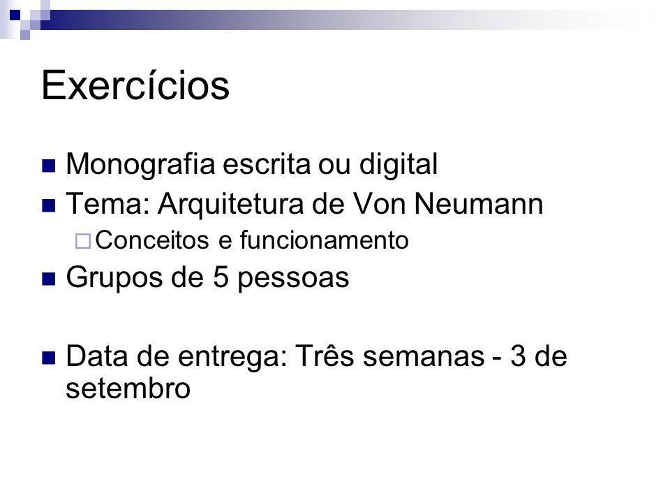 Exercícios Monografia escrita ou digital