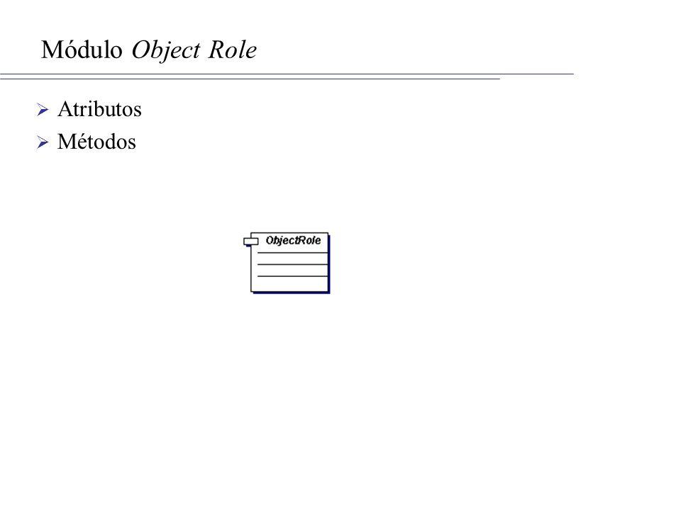 Módulo Object Role Atributos Métodos