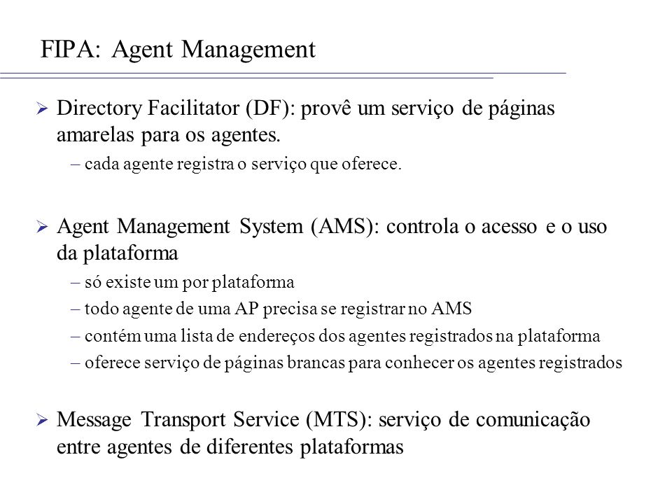 FIPA: Agent Management