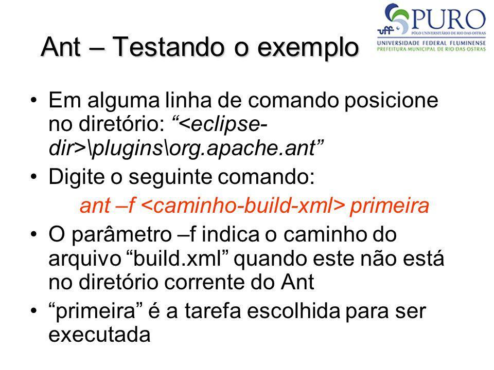 Ant – Testando o exemplo