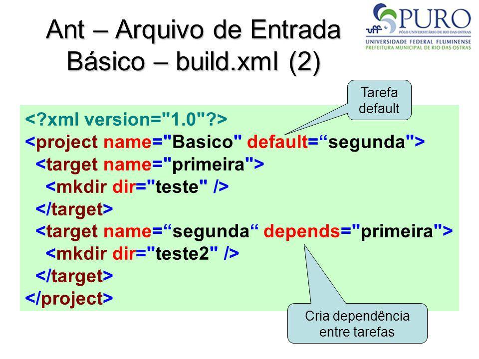 Ant – Arquivo de Entrada Básico – build.xml (2)
