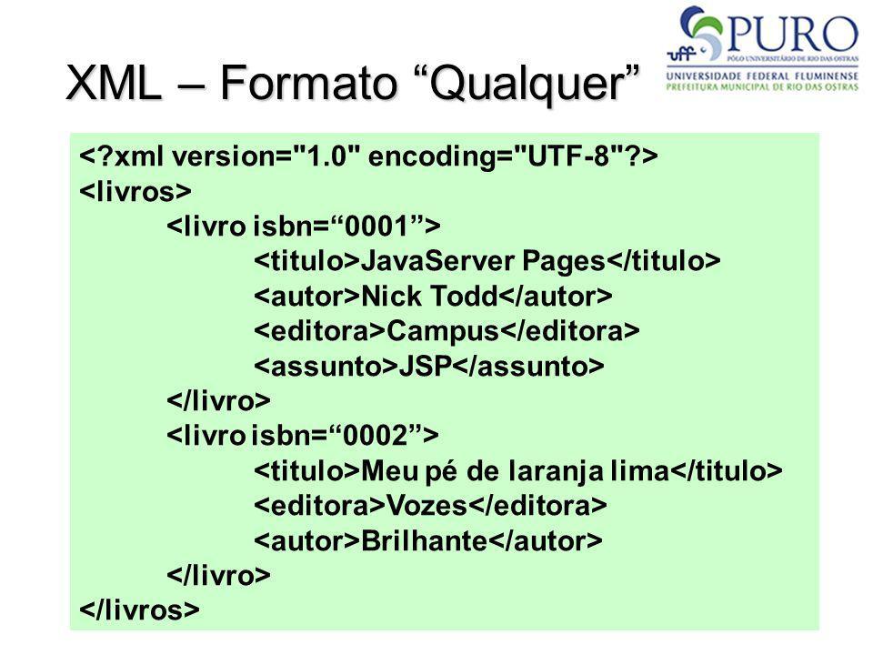 XML – Formato Qualquer