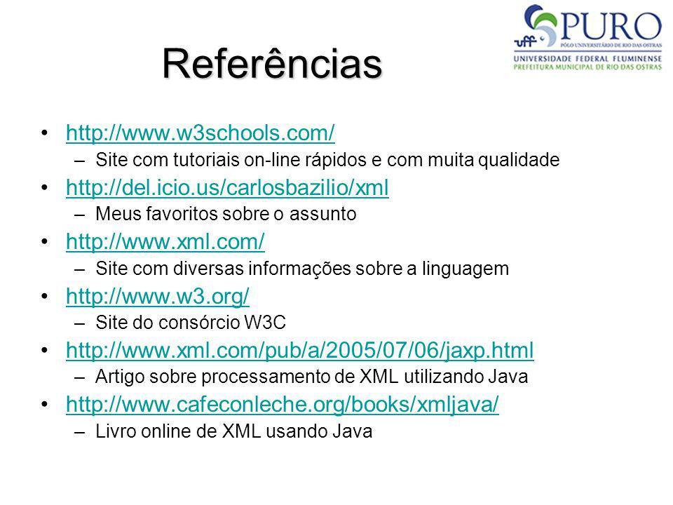 Referências http://www.w3schools.com/