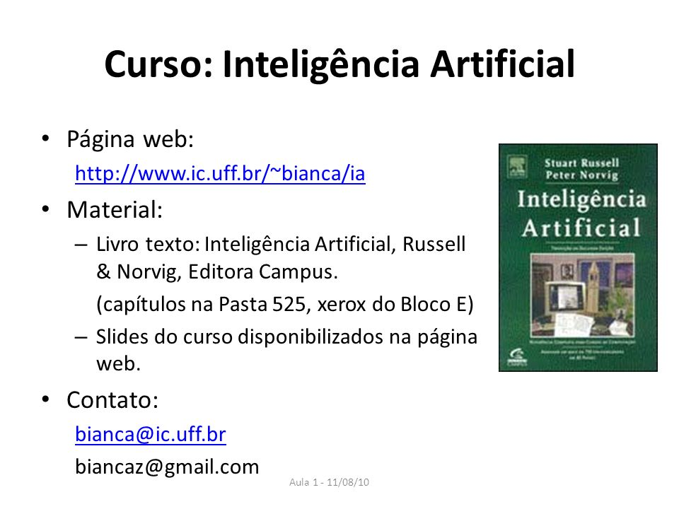 Curso: Inteligência Artificial