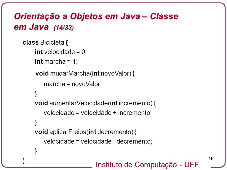 Orientação a Objetos em Java – Classe em Java (14/33)