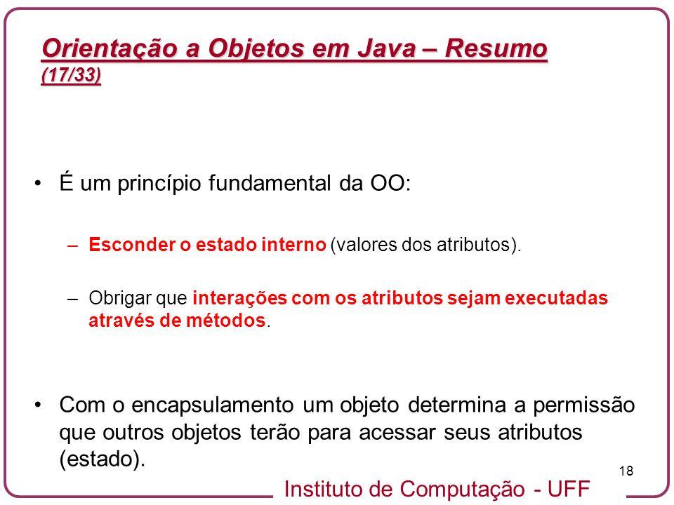Orientação a Objetos em Java – Resumo (17/33)