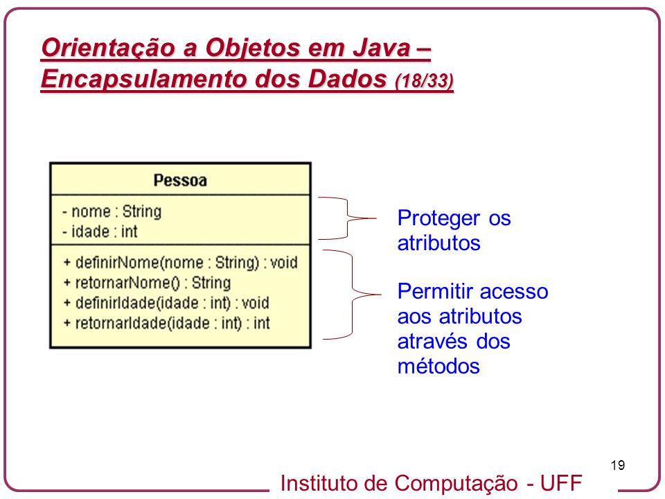 Orientação a Objetos em Java – Encapsulamento dos Dados (18/33)
