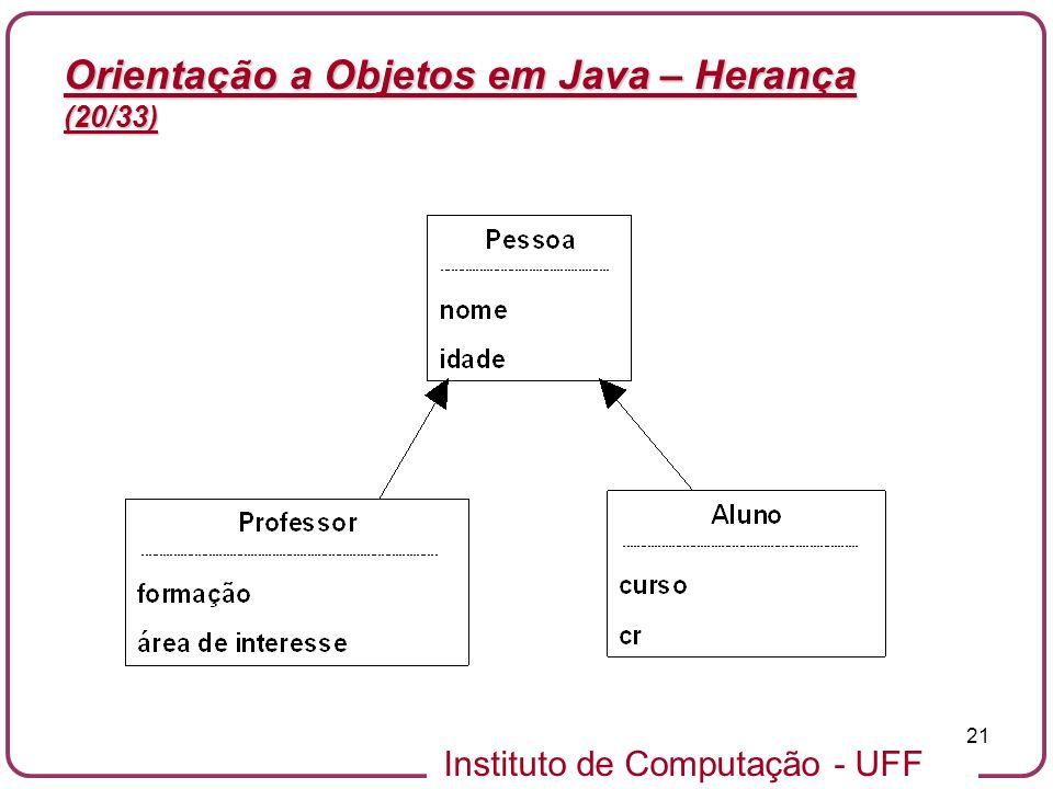 Orientação a Objetos em Java – Herança (20/33)