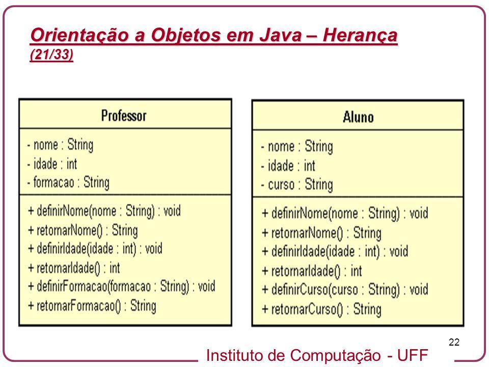 Orientação a Objetos em Java – Herança (21/33)
