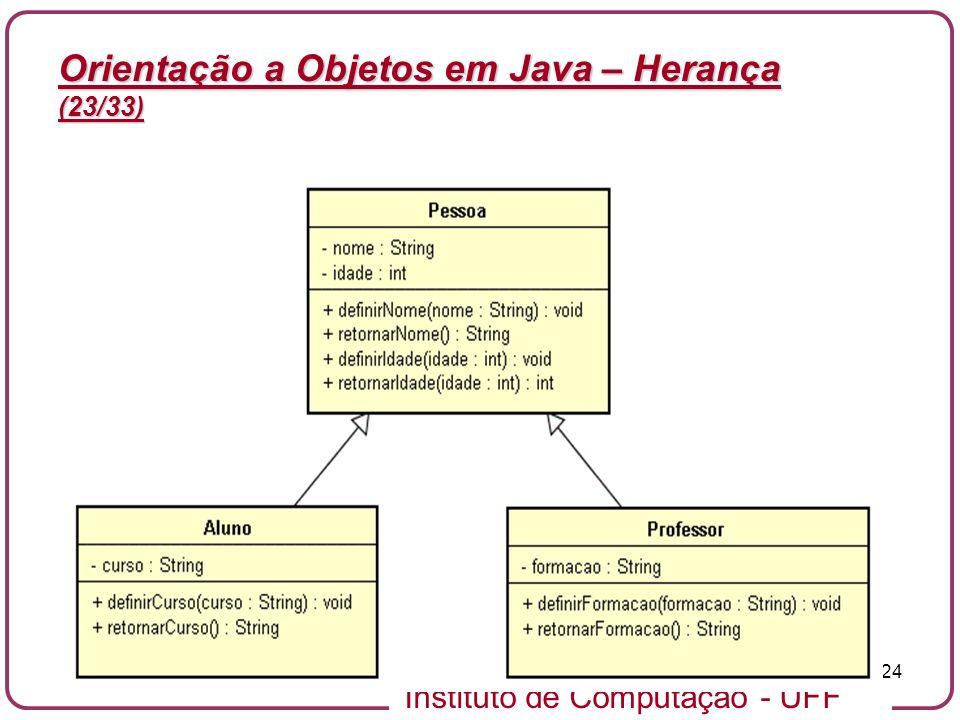 Orientação a Objetos em Java – Herança (23/33)