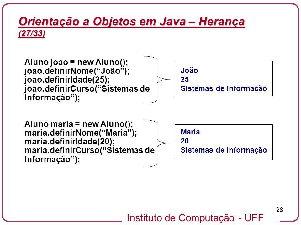 Orientação a Objetos em Java – Herança (27/33)