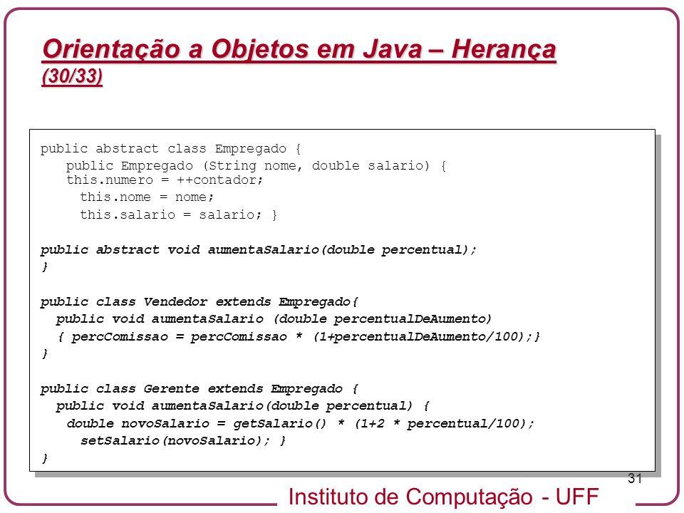 Orientação a Objetos em Java – Herança (30/33)