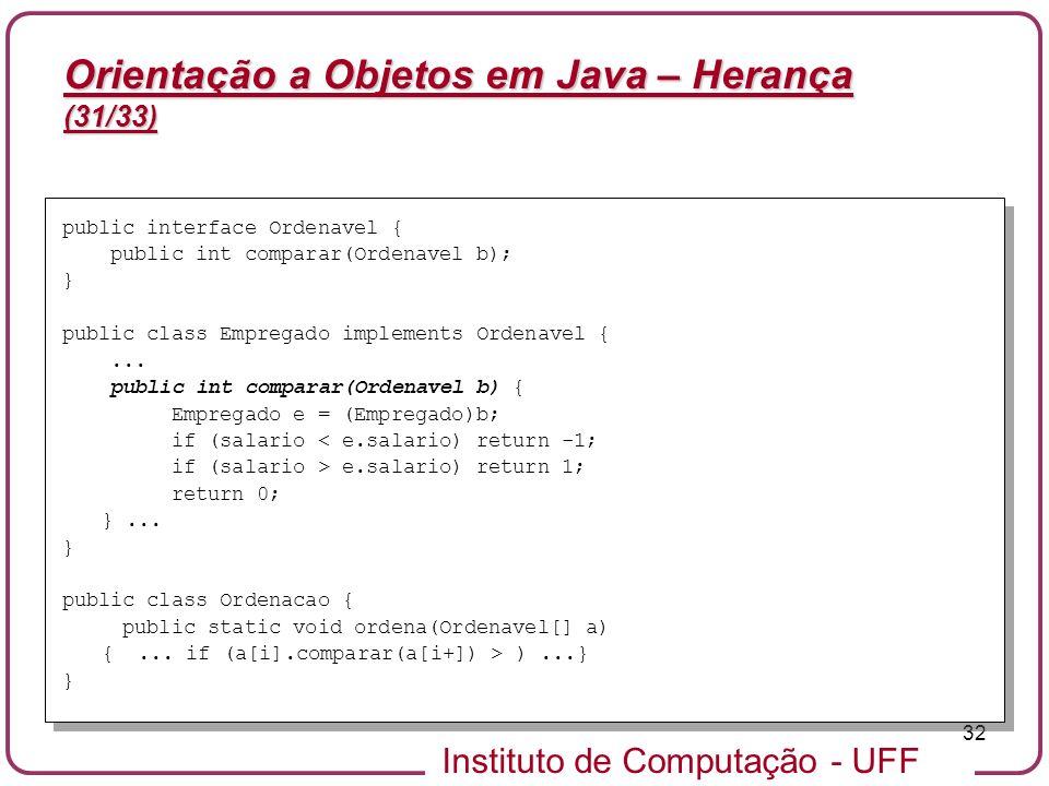 Orientação a Objetos em Java – Herança (31/33)