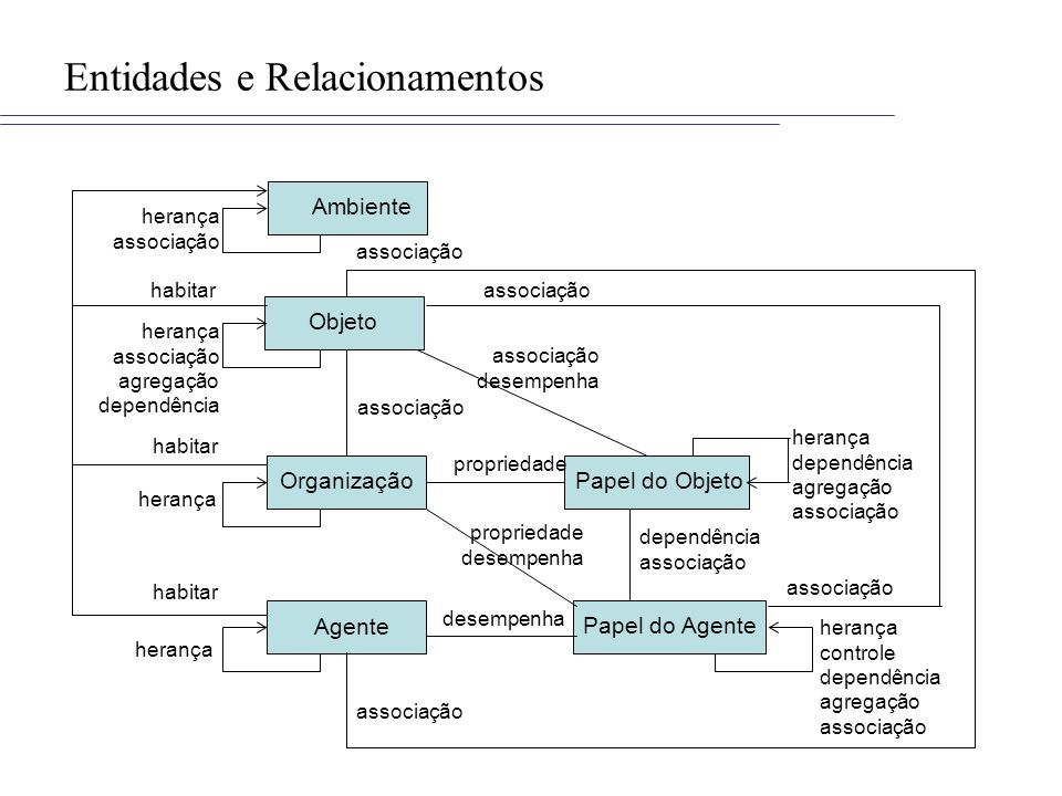 Entidades e Relacionamentos