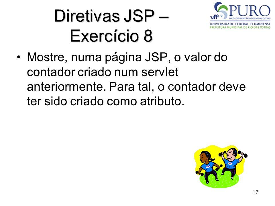 Diretivas JSP – Exercício 8