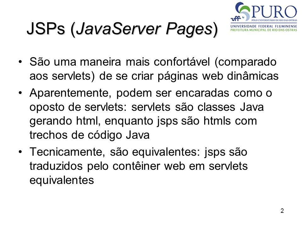 JSPs (JavaServer Pages)
