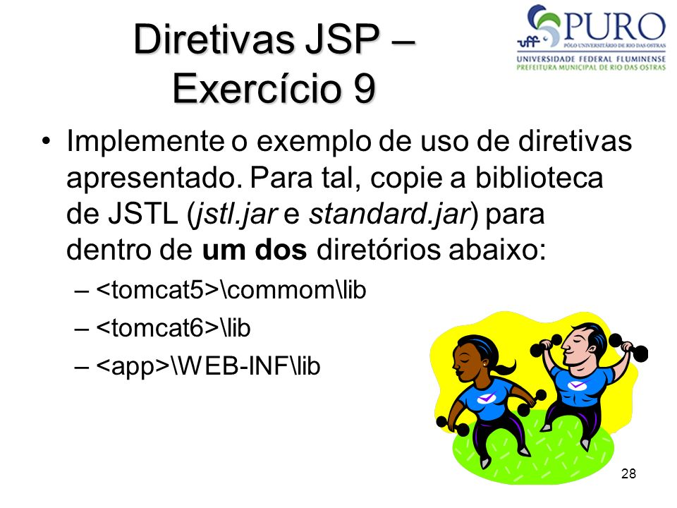 Diretivas JSP – Exercício 9