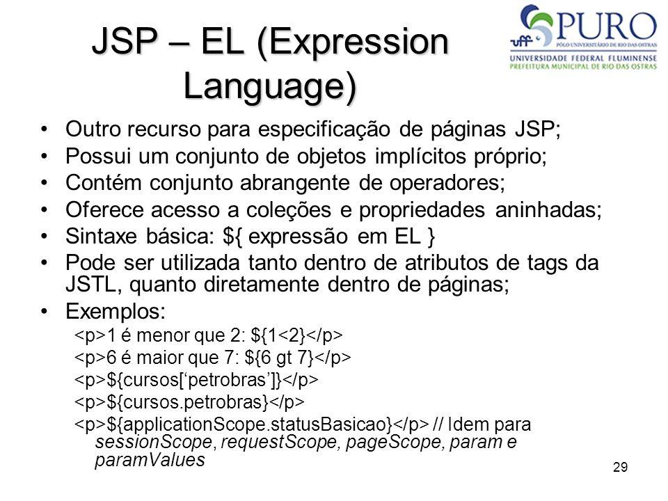 JSP – EL (Expression Language)