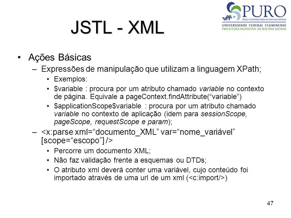 JSTL - XML Ações Básicas