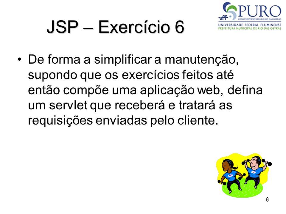JSP – Exercício 6